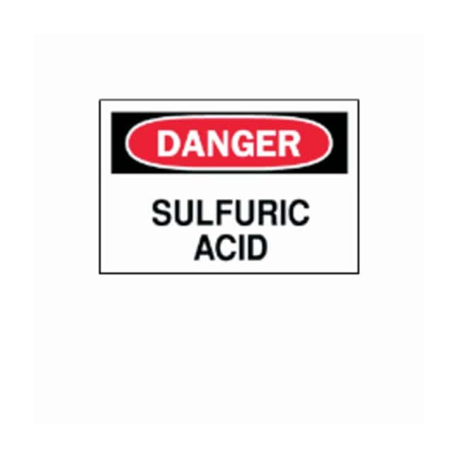 Brady™Chemical and Hazardous Materials Signs: Sulfuric Acid