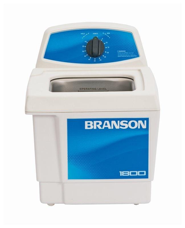 Branson Ultrasonics™M Series Ultrasonic Cleaning Bath M1800-E; 230/240V; Capacity: 1.9L; 25.1L x 30.4W x 30.2cm D Branson Ultrasonics™M Series Ultrasonic Cleaning Bath