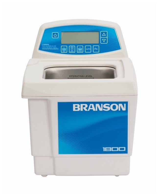 Branson Ultrasonics™Bain de nettoyage à ultrasons série CPXH CPX1800H-E; 230/240V; Capacité: 1,9L; 25,1x30,4x30,2mm (LxlxH) Branson Ultrasonics™Bain de nettoyage à ultrasons série CPXH