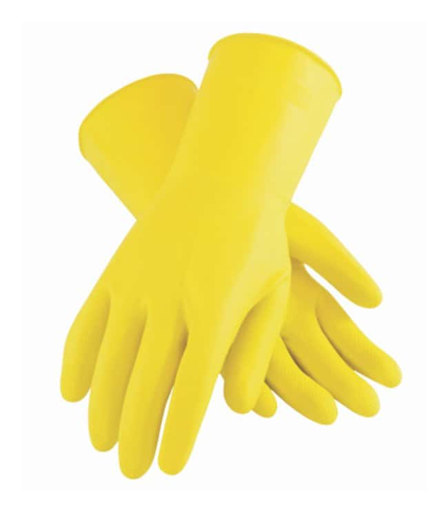PIP Assurance Unsupported 21mil Latex Gloves, Flock-Lined Size: Medium:Gloves,
