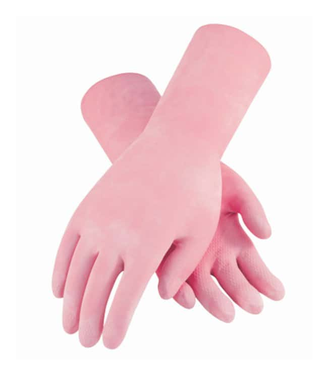 PIP Assurance Unsupported 18mil Latex Gloves, Flock Lined:Gloves, Glasses