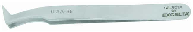Excelta Precision Tweezers With Angled Tips and Flat Sharp Points:Spatulas,