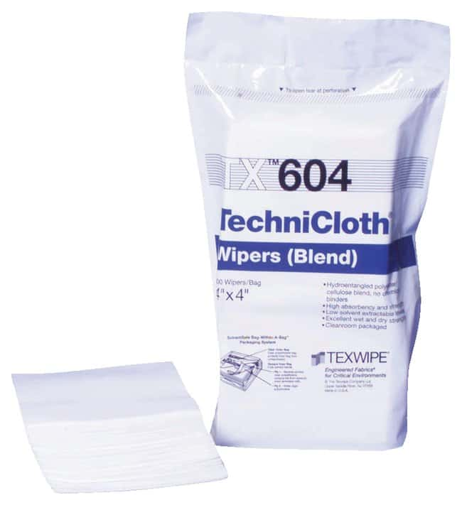 Texwipe™ TechniCloth™ Nonwoven Dry Wipers, ISO Class 6/7