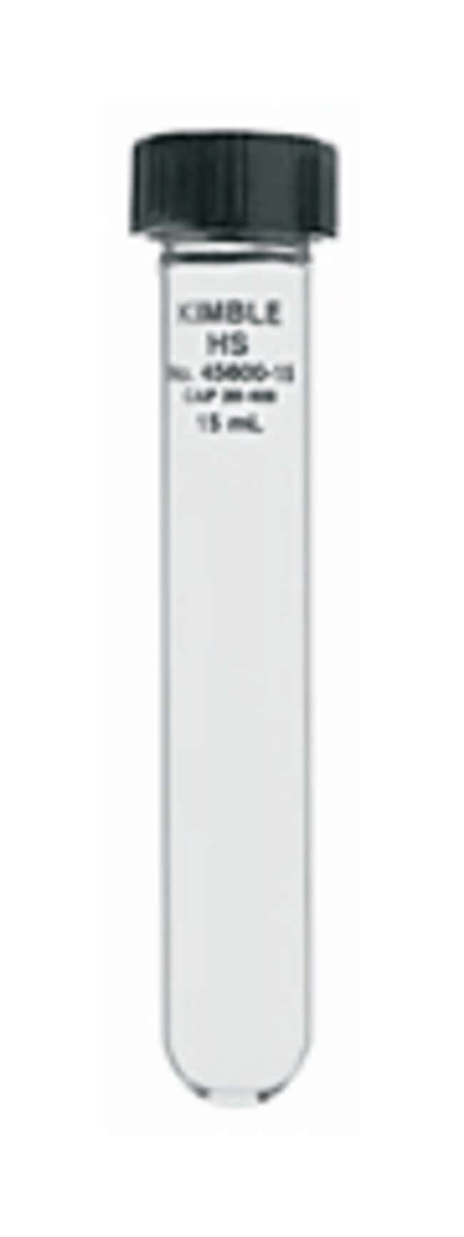 DWK Life SciencesKimble™ Kontes™ KIMAX™ Reusable High Strength Centrifuge Tubes 15mL; With screw cap DWK Life SciencesKimble™ Kontes™ KIMAX™ Reusable High Strength Centrifuge Tubes