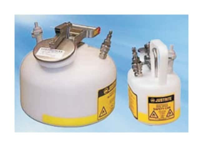 Justrite In-flow Safety Cans Oval; Capac.: 0.5 gal. (2L):Gloves, Glasses