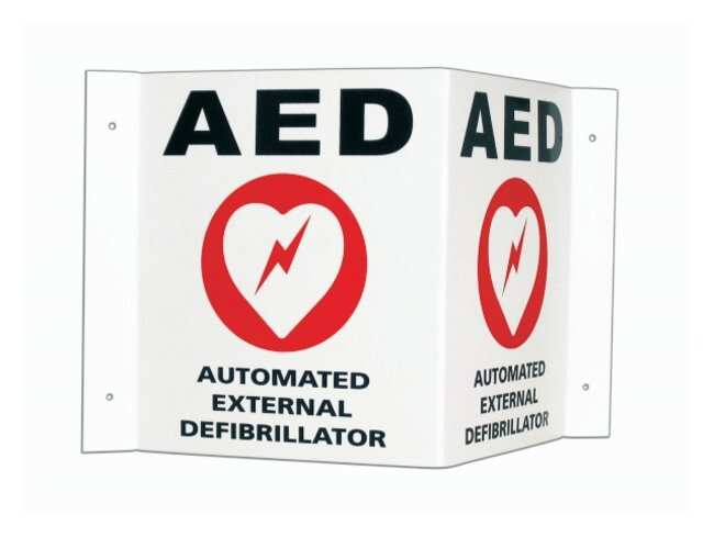 Cardiac Science 3-D Wall Sign AED 3-D Sign:Gloves, Glasses and Safety