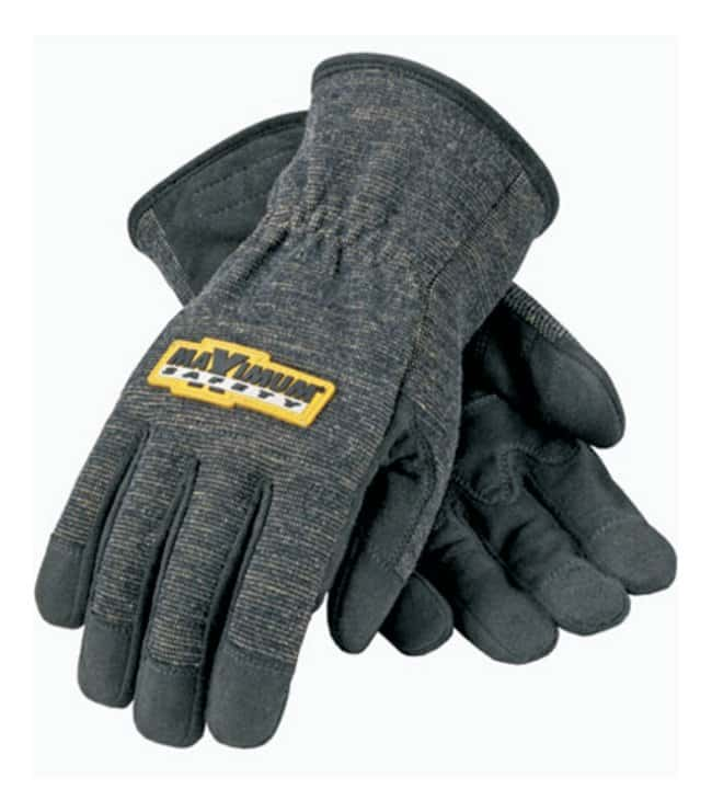 PIP FR Treated Synthetic Leather Utility Gloves Large; Slip-on, extended