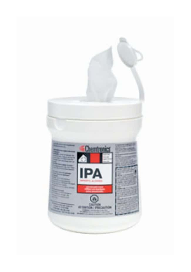 Chemtronics IPA Presaturated Wipers 100 6 x 9 in. wipers/tub:Gloves, Glasses