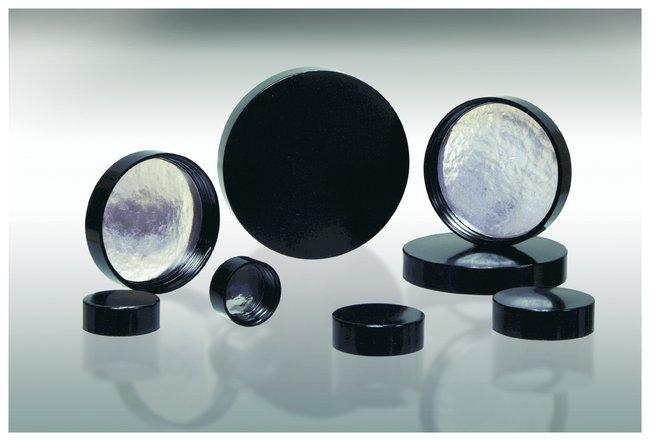 Qorpak&trade;&nbsp;Black Phenolic Pulp/Aluminum Foil Lined Caps&nbsp;<img src=