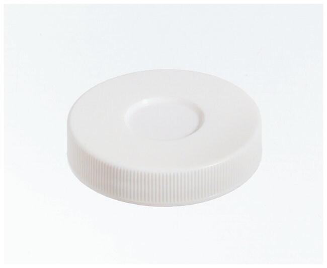 Qorpak White Polypropylene Hole Caps With Bonded Ptfe