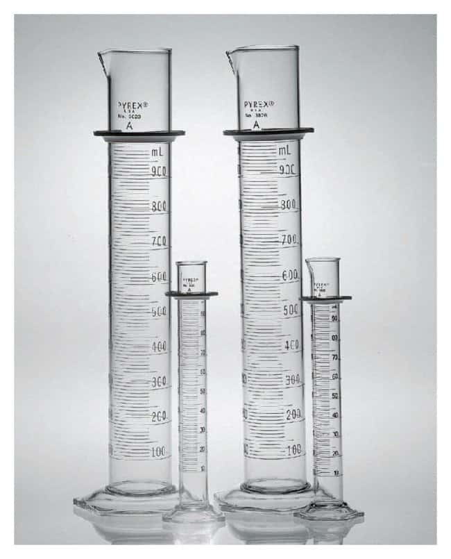 PYREX Class A Graduated Cylinders with Double Metric Scale, TD :Beakers,