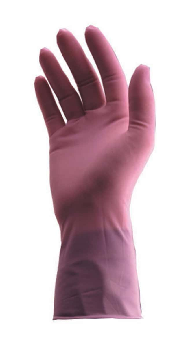MAPA Tri-Poly Powder-Free Trilite Grippy Gloves Length: 10 in.; Purple;