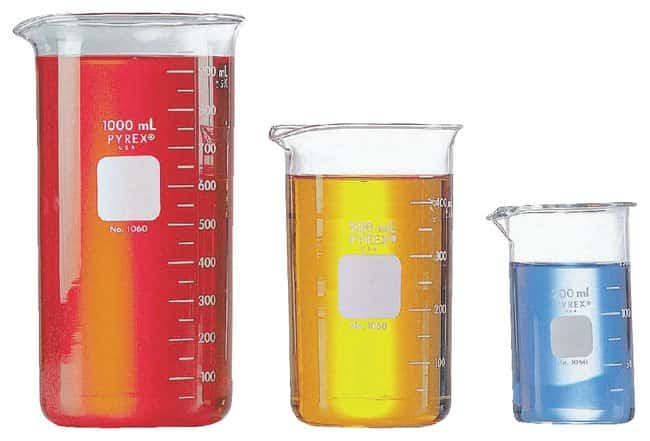 PYREX™Tall-Form Berzelius Beakers with Spout, Graduated