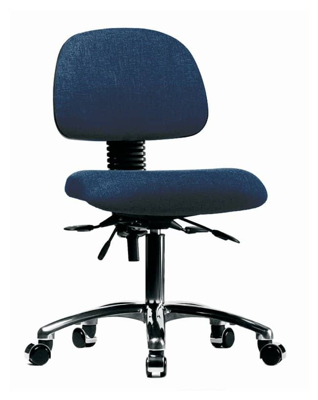 Fisherbrand Fabric Chair Chrome - Desk Height with Seat Tilt and Casters