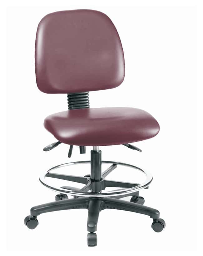 Fisherbrand Vinyl Chair - Medium Bench Height with Medium Back, Seat Tilt,