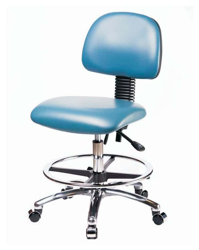 Fisherbrand Pneumatic Vinyl Chair with Casters, Medium Bench Height :Furniture,