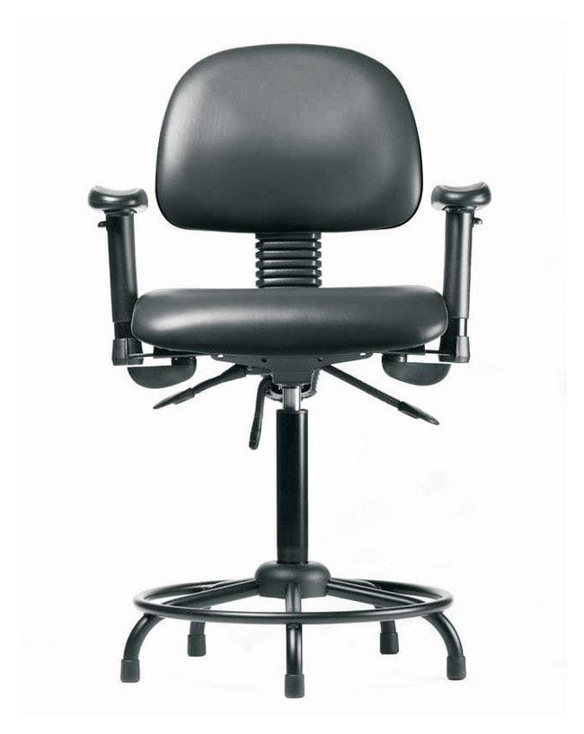 FisherbrandVinyl Chair - Medium Bench Height with Round Tube Base, Adjustable