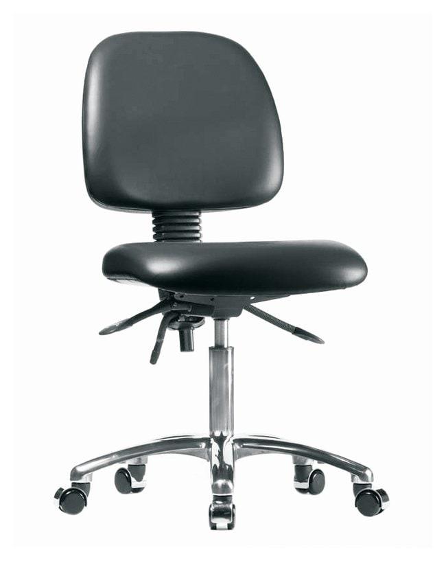 FisherbrandVinyl Chair Chrome - Desk Height with Medium Back, Seat Tilt,