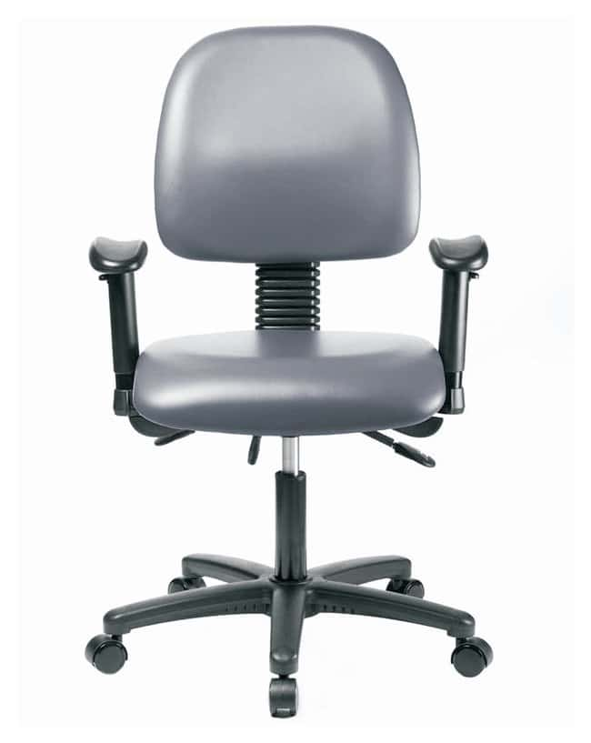 FisherbrandVinyl Chair - Desk Height with Medium Back, Adjustable Arms,