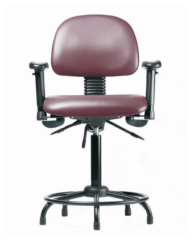 Fisherbrand Vinyl Chair - Desk Height with Round Tube Base, Adjustable