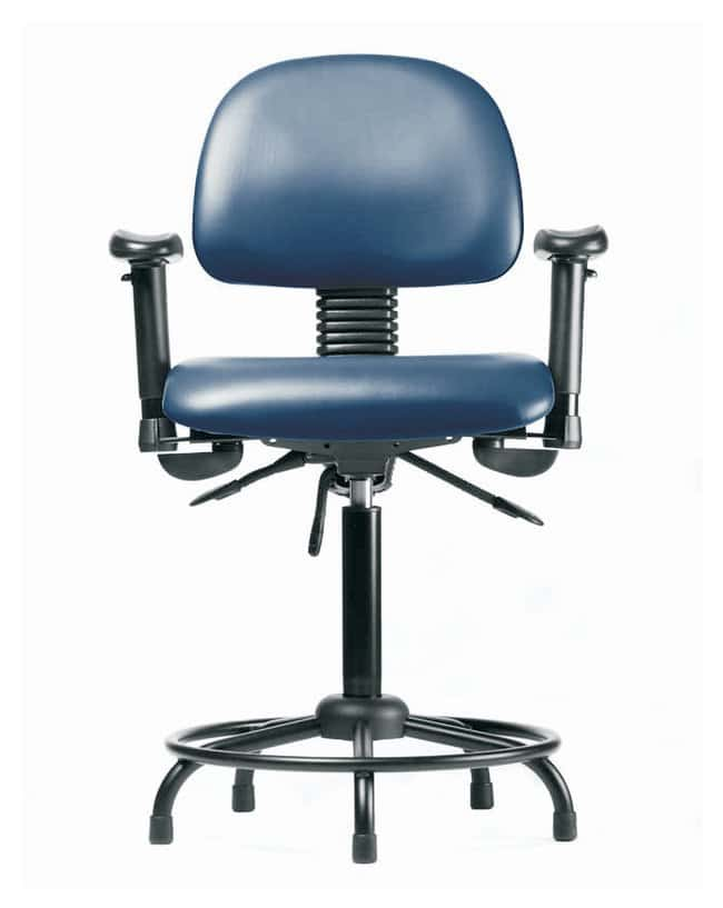 FisherbrandVinyl Chair - Desk Height with Round Tube Base, Adjustable Arms,