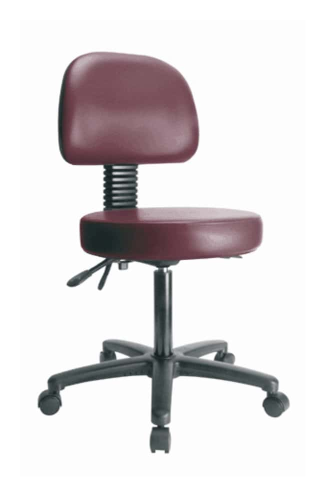 Fisherbrand Low Form Vinyl Stools W Back Desk Height