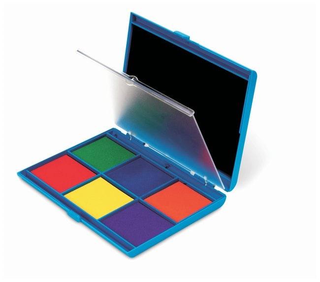 7-Color Dual Stamp Pad Seven colors:Education Supplies