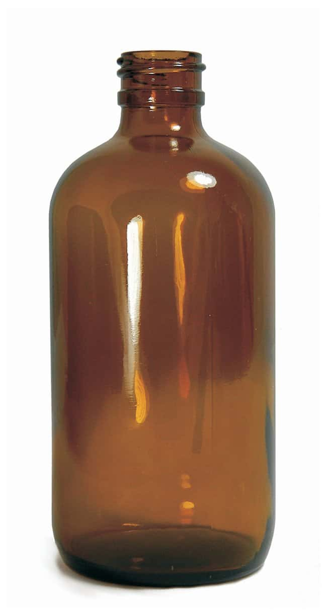 Qorpak&trade;&nbsp;Amber Boston Round Bottles Without Cap&nbsp;<img src=