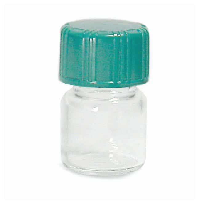QorpakAmber and Clear Borosilicate Compound Vials: With Cap Clear; w/enclosed