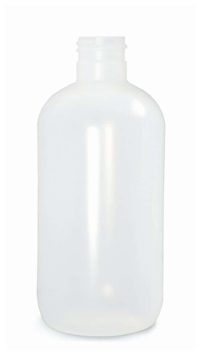 Qorpak  Natural LDPE Boston Round Bottles   Without Caps