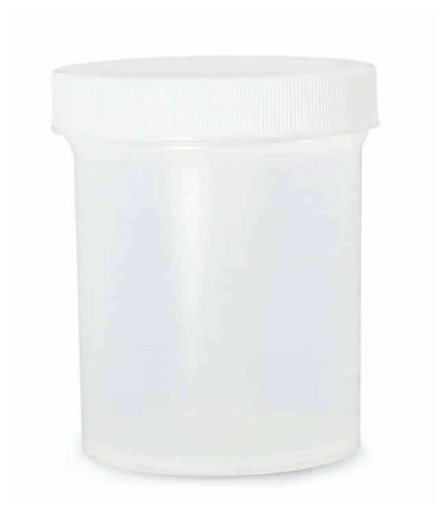 Qorpak™Natural Polypropylene Jars: w/White PP Unlined Caps