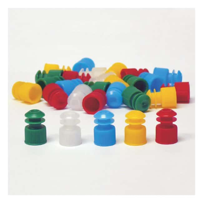 Globe Scientific Flanged Plug Caps For 13mm Tubes:Beakers, Bottles, Cylinders