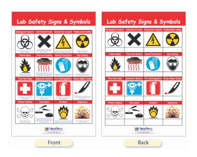 Newpath Learning Safety Symbols And Labels Bulletin Board Chart Safety