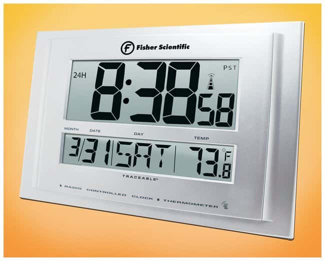 fisher scientific atomic wall clocks ph meters timers and - Atomic Wall Clock