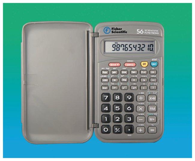 fisherbrand pocket sized scientific calculator 12 7l x 7 6w x 1 3cm h