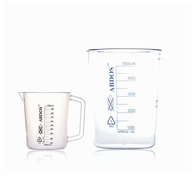 United Scientific Supplies Graduated Polymethylpentene (TPX™) Pitchers with Handle