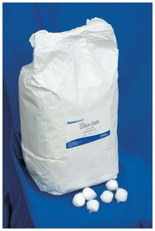 Fisherbrand Nonsterile Cotton Balls  Large:Wipes, Towels and Cleaning