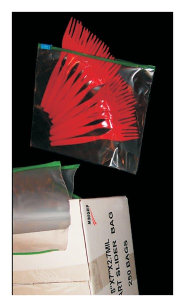 Minigrip Slider Grip Storage Bags Quart; Dimension: 8 x 7 in. (20.32 x
