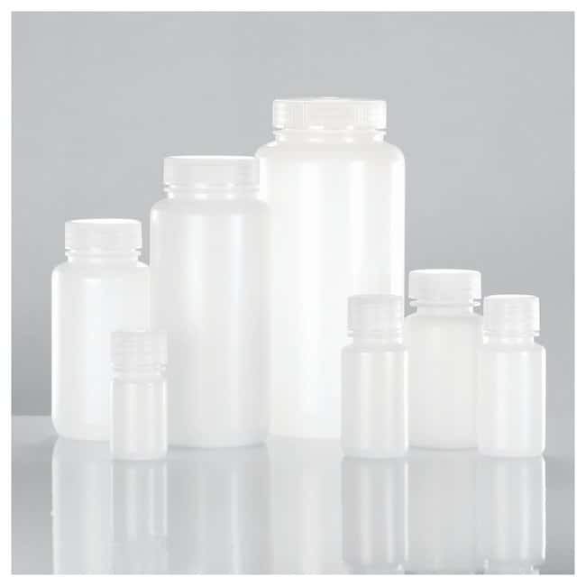 DWK Life Sciences Wheaton™ Leak-Resistant Wide-Mouth Natural LDPE Bottles