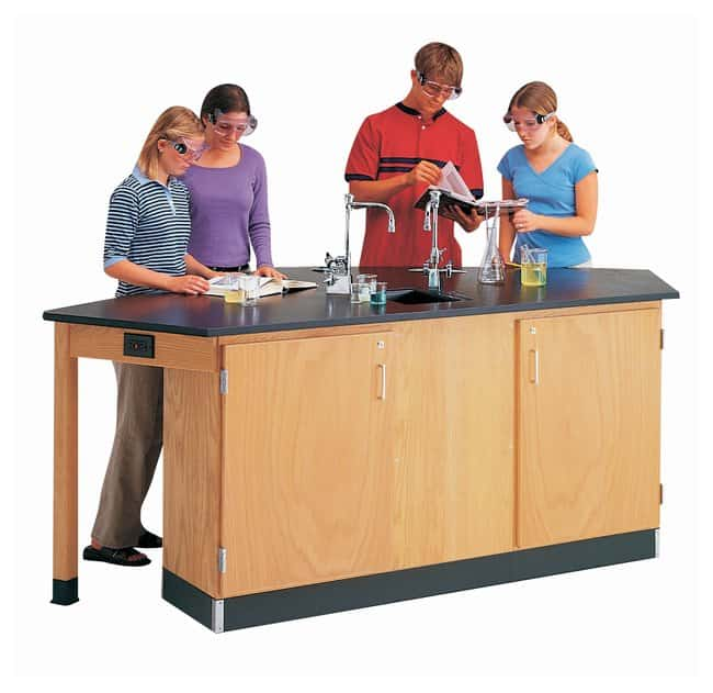 Diversified Woodcrafts™ Forward Vision I Four-Student Workstation <img src=