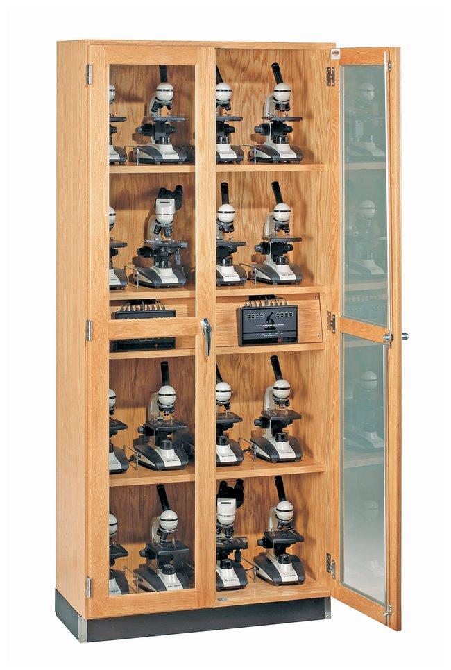 Diversified Woodcrafts Microscope Storage Cabinet