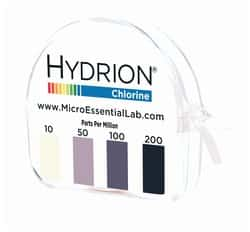 """MICRO ESSENTIAL Test Strips,Detects Free Chlorine,1//4/"""" W CH-1000"""