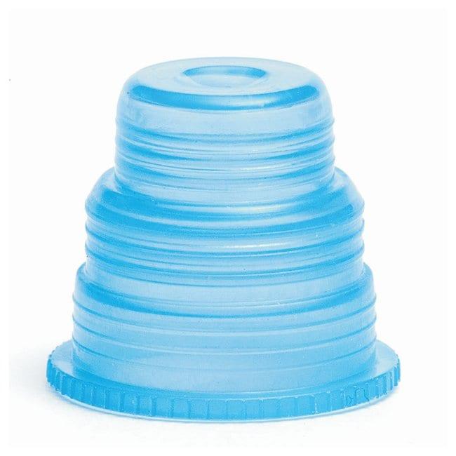 Bio Plas Hexa-Flex Safety Caps Blue:Test Tubes, Vials, Caps and Closures