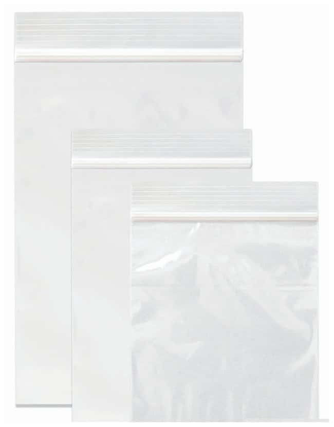 Minigrip Reloc ZIPPIT Clear Non-Biohazard Reclosable Zipper Bags 2 W x