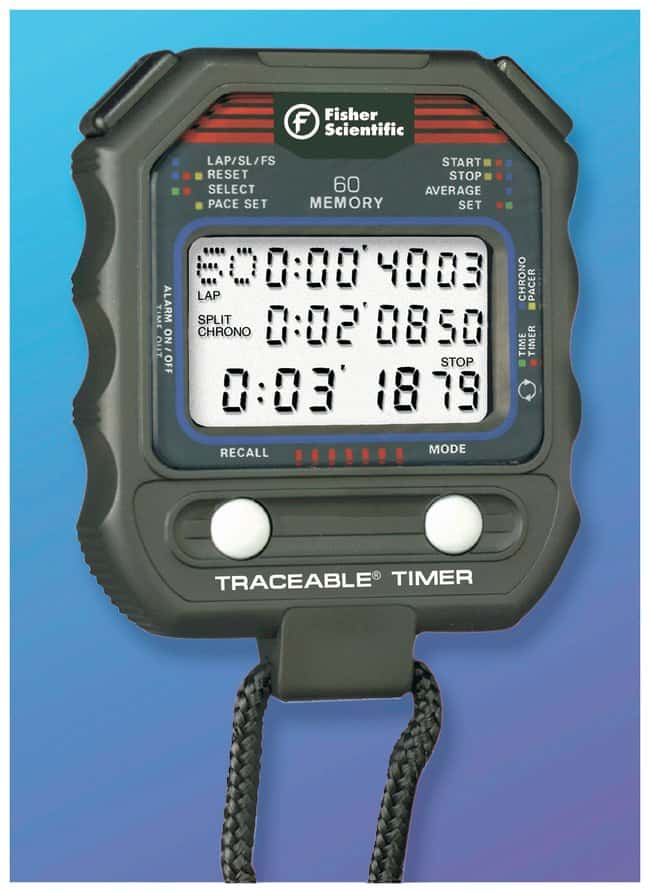 Fisherbrand™ Traceable™ 60-Memory Stopwatch