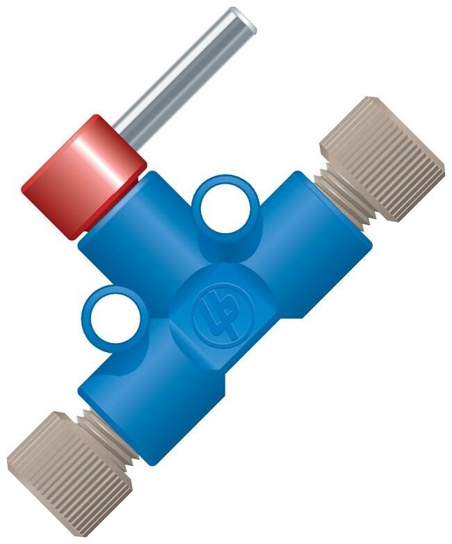 Idex Shut-off Valves Tubing OD: 0.0625 in.; Blue; Pressure: 600psig; Thru