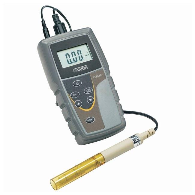 Oakton™CON 6+ Portable Conductivity Meters, CON 6+ Meter w/probe, protective rubber boot, batteries