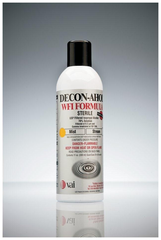 VAI DECON-AHOL Sterile WFI Decontaminant Solution 70%; Mist spray; 11oz.:Testing