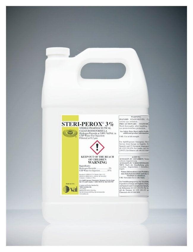 VAI STERI-PEROX Sterile Hydrogen Peroxide Solution 3%; 1 gal.; Sterile:Testing