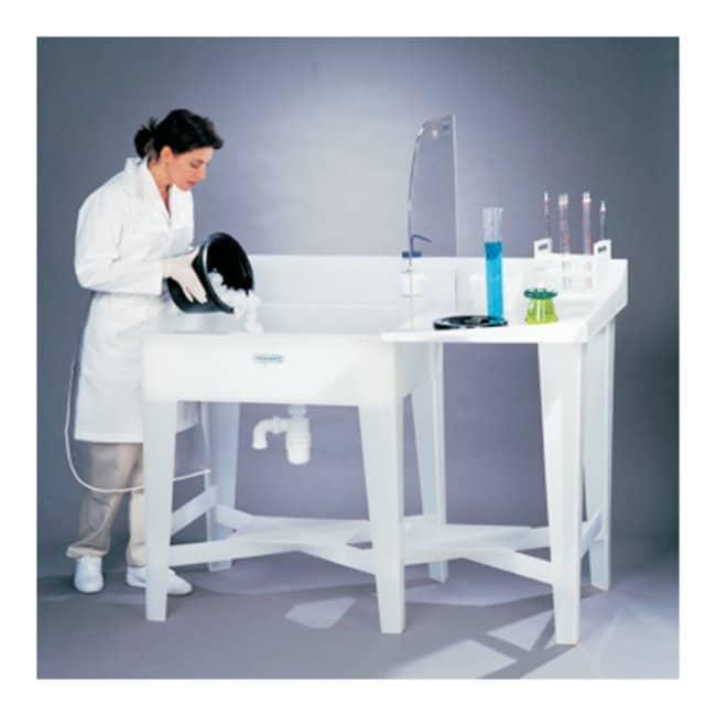 Bel-ArtSP Scienceware Polypropylene Left-Side Sink Left side sink; 20 gal.
